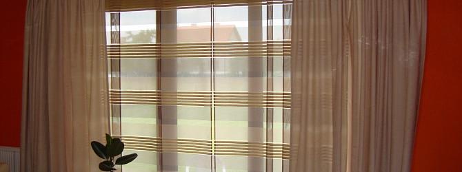 2 in 1nem oder glatte paneele und geraffte vorh nge in gemeinsamer schiene heimtex ideen. Black Bedroom Furniture Sets. Home Design Ideas