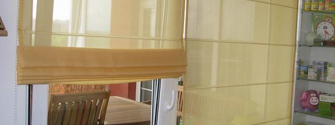 raffrollos aus gardinen f r die ganze wohnung heimtex ideen. Black Bedroom Furniture Sets. Home Design Ideas