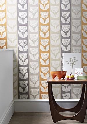 die nostalgie des retro designs in einer tapeten kollektion heimtex ideen. Black Bedroom Furniture Sets. Home Design Ideas