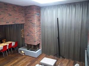 vorh nge in einer zweigeschossigen wohnung im stil von street art heimtex ideen. Black Bedroom Furniture Sets. Home Design Ideas